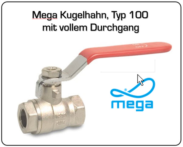 Messing MEGA Kugelhahn